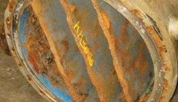 a 5 years-old coated steel channel - Inoxyda