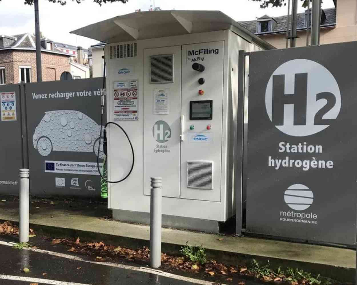 Hydrogen station in Normandy - Picture Ouest France